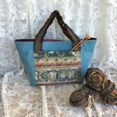 Project bag, Knitting Tote, Crochet Tote, Craft Tote