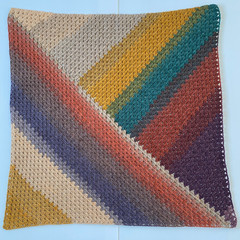 Baby blanket in autumnal colours