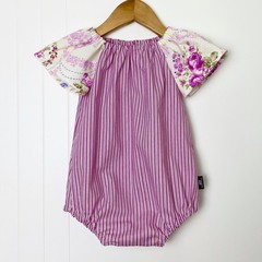 *NEW* Candy Stripe Roses Seaside Romper - FREE POST