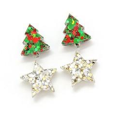 Christmas Collection - Christmas studs - Christmas trees and stars