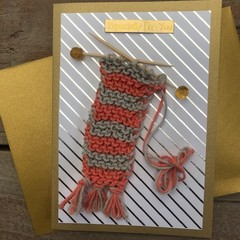 Especially for you (knitted scarf) card