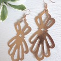 """Nouveau Luxe"", Genuine Leather Earrings, White, Gold. Rose Gold"