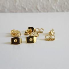 Gold colour earring back holders , Handmade Stud earring making Ear nuts
