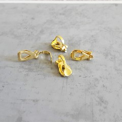 Gold colour earring clips , Jewlery making Non hole earrings Allergy