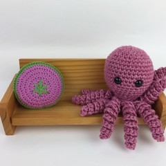 Crochet Octopus Softie | Toy | Wool Bamboo | Gift Idea | Hand Crocheted | Pink