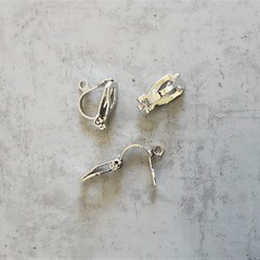 Silver colour earring clips , Jewlery making Non hole earrings Allergy