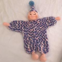 Crochet Lovey, Security Stuffed Clown, Comforter, Companion