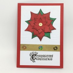 Christmas Card - Elegant Large Poinsettia