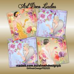 Art Deco Ladies 8x8 Printables