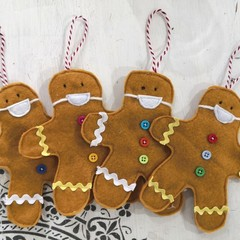 Masked Gingerbread Men