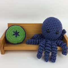 Crochet Octopus Softie | Toy | Wool Bamboo | Gift Idea | Hand Crocheted | Blue