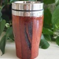 Wooden travel mug, Wooden coffee mug, Australian Jarrah, Coffee cup, Xmas gift