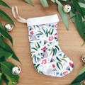 Mini Christmas Stocking- Aussie Christmas Animals