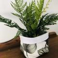 LARGE LEAF FABRIC BOX, teacher gift/planter