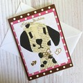 'Birthday  Greetings' with Paper Dalmatian