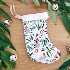 Mini Christmas Stocking- Aussie Christmas Animals