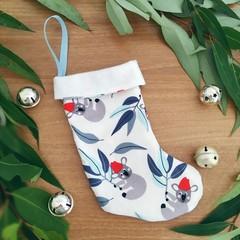 Mini Christmas Stocking- Santa Koalas