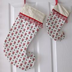 Christmas Stockings, decoration - Santas pair