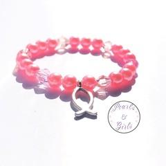 Jesus fish <>< Pink bracelet