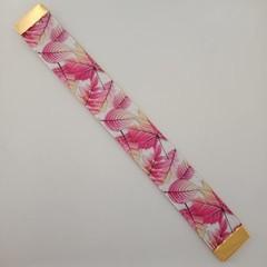 Pink leaf webbing bookmark