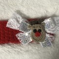 Reindeer Christmas headband- newborn to adult