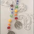 Tree of life and Chakra crystal beads