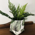 LARGE LEAF FABRIC BOX, teacher gift/planter