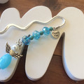 Thankyou Angel bookmark charm blue teachers gift