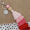She believed she could so she did  - Tassel keyring/bag tag