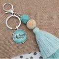 Be Brave -  Tassel keyring/bag tag