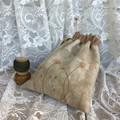 Drawstring Project Bag for Knitting, Crochet, Craft, Small Cotton Bag, Gift Bag