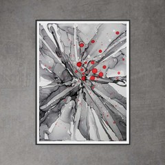 "Winter Berry Original Art - 9"" x 12"" painting"