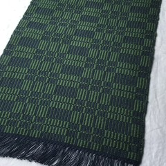 Placemats Handwoven Set of 4 Pure Cotton Navy & Deep Green