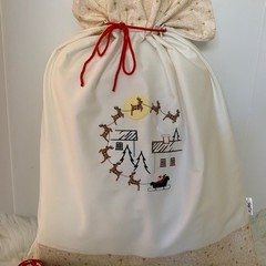 Personalised embroidered Santa Sack, choice of design