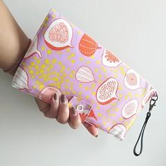 Fabric Travel Organizer / lilac - fig / Passport holder / travel wallet
