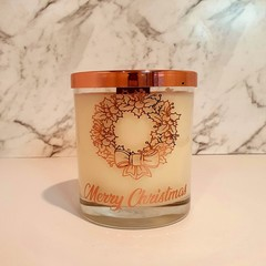 Candy Cane Scented Wood Wick Candle