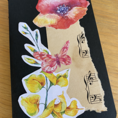 Moleskine notebook with decorated cover