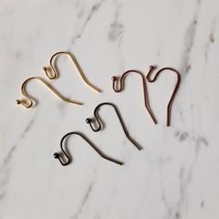 Simple earring hook ( Ball end ) , Bronze Red Copper Glod , Drop earring making