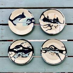 Ceramic unique Plates, Abstract Art Pltes, Pottery landscape design, Designers'
