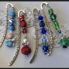 Thankyou Angel bookmark charm blue teachers gift