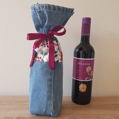 Recycled Fabric Gift Bag - Wine