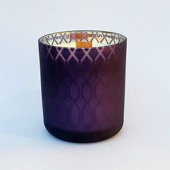 Matte Purple Woodwick soy wax candles
