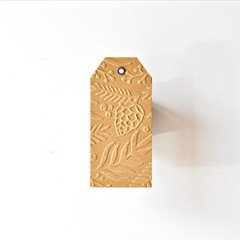 Large Pinecones Kraft Tags {10} | Embossed Large Gift Tags | Pinecone Tags