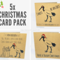 Bin Chicken (Ibis) Christmas Cards - Pack of 5 (Free Post to Aus)