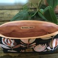 Lge. Essential Oil Purse - Proteas in Coral/Brown