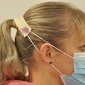 Green Blue Roses Ear Saver for Ear Loop Face Masks