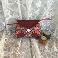 Project Bag, Small Pouch, Gift Bag, Retro Fabric