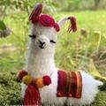 LLama Pillow Crochet Llama Cushion Handmade Gift