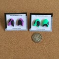 Mini Arrow Head Studs - Purple
