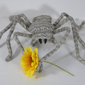 Giant Huntsman Spider Fabric Wire Soft Sculpture